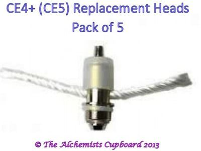 CE4+ Replacement Atomiser Heads 5 Pack